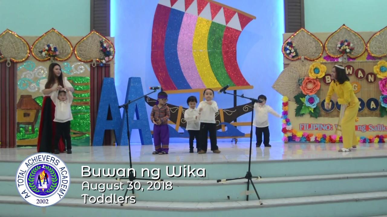 Prechool – Buwan ng Wika Youtube Videos – AA TOTAL ACHIEVERS