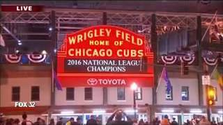 (WFLD) Cubs Going To World Series Breaking News (October 22, 2016)