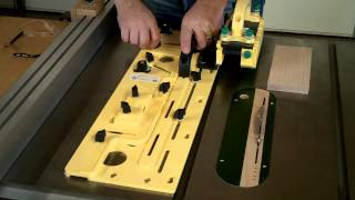 Using The Rise/run Gauge On The Microdial Tapering Jig By Microjig