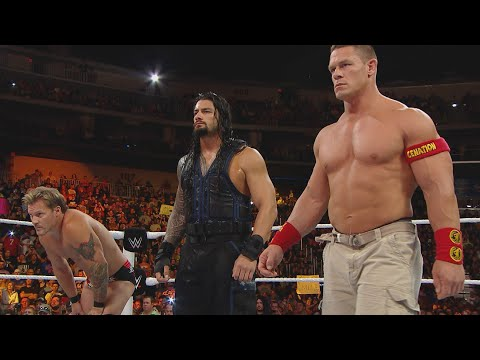 John Cena & Roman Reigns demolish Kane with The Authority looking on: Raw, Sept. 1,2014
