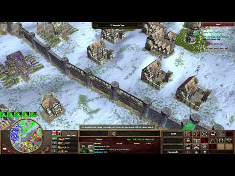 [AOE 3] Team game High Level 2v2 Brits/German vs Brits/Russi