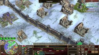 [AOE 3] Team game High Level 2v2 Brits/German vs Brits/Russia
