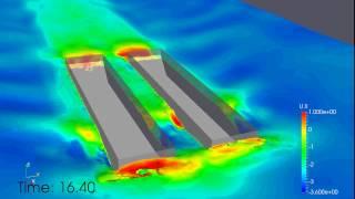 Resistance of box-shape hull catamaran