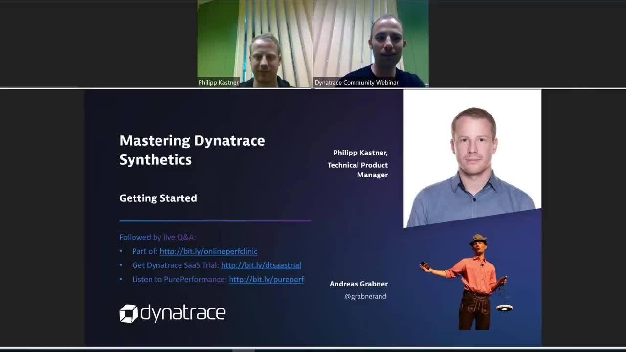 Mastering Dynatrace Synthetics Getting Started