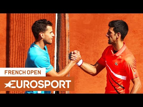 Novak Djokovic vs Dominic Thiem Highlights | Roland Garros 2019 Semi-Final | Eurosport