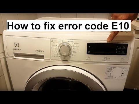 How to fix Electrolux/AEG error code E10 - YouTube
