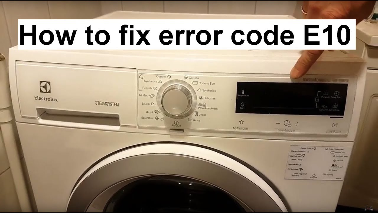 How To Fix Electrolux Aeg Error Code E10 Youtube