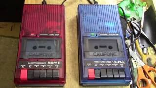 A Tale of Two Tape Recorders – Califone 1500AV – BL and ST Cassette Recorders