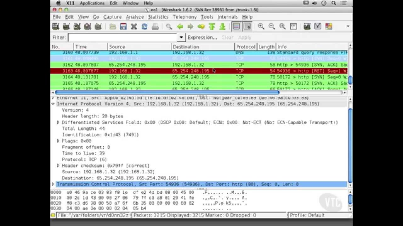 Investigating Scan Types with Wireshark within Nmap