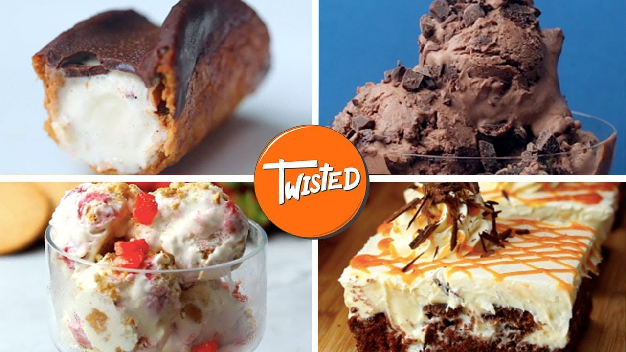 10 Tasty Ice Cream Dessert Recipes Homemade Ice Cream Recipes Twisted