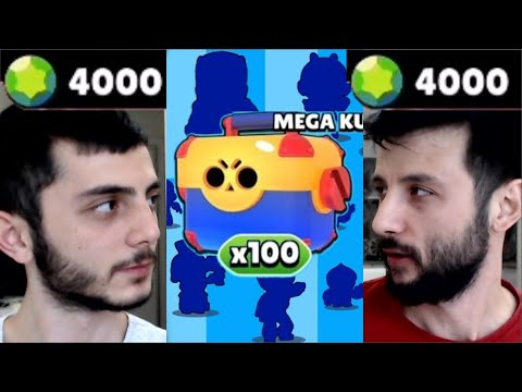 100 MEGA KUTU = 23 KARAKTER     Brawl Stars