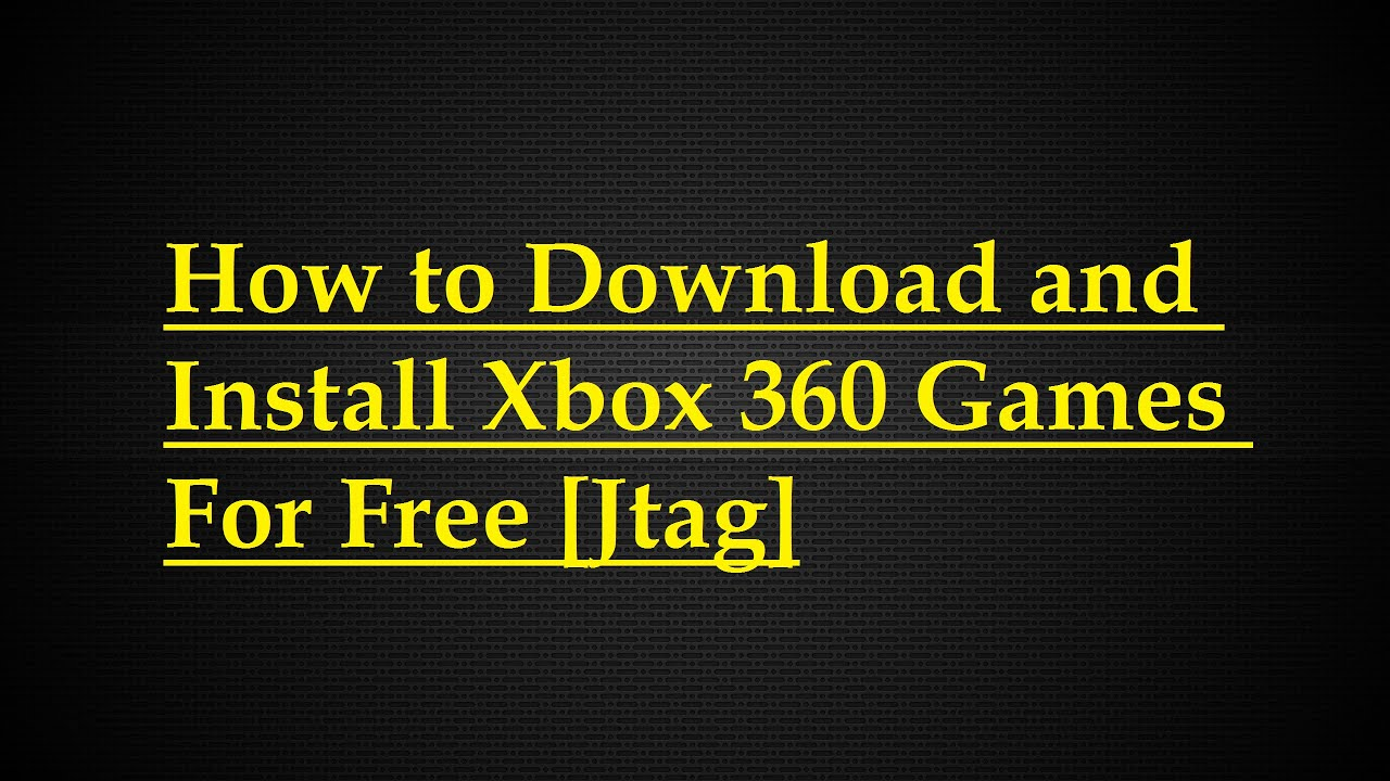 How to Install games onto your XBox 360 hard drive (HDD ...