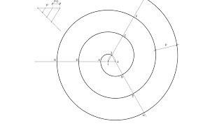 espiral de 3 centros dado el paso