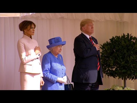 First Lady Melania Trump Wears Pink to Meet Queen Elizabeth