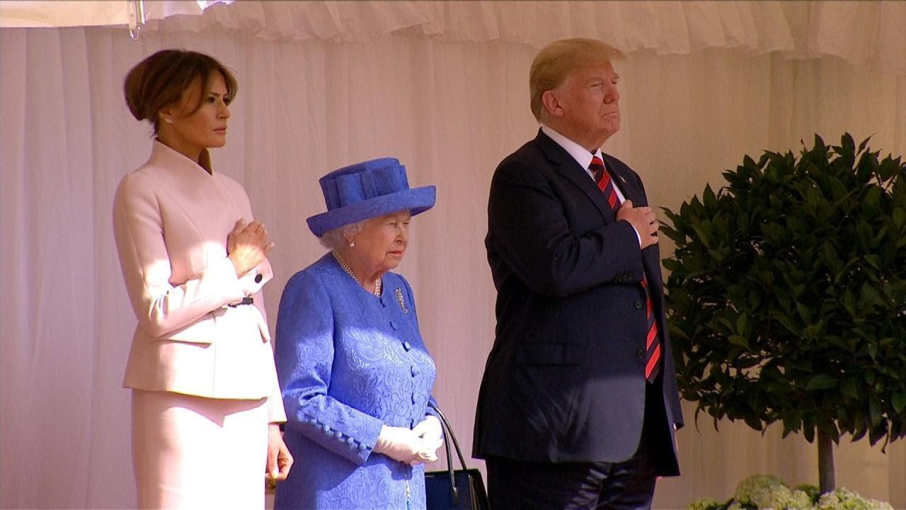 first-lady-melania-trump-wears-pink-to-meet-queen-elizabeth