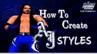 WWE SD! Ici Vient La Douleur TCA / Comment Créer AJ STYLES
