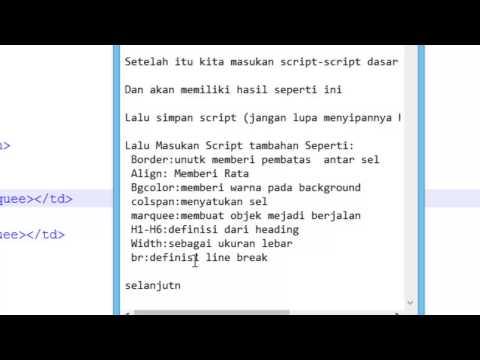 Membuat Layout Sederhana Menggunakan Script HTML