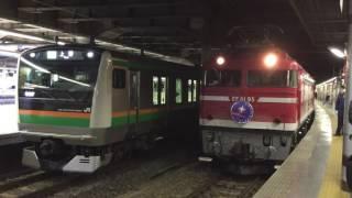 2016年12月29日 上野駅13番線より、カシオペア紀行 発車 久しぶりのカシ...