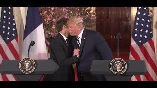 """""""Paarlauf"""" in Washington: Donald Trump über Emmanuel Macron - """"Ich mag ihn sehr"""""""