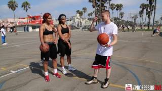 The Professor trains UNLV female players the Gonzalez twins. Video