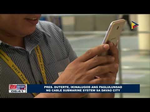 Pangulong Duterte, ikinalugod ang paglulunsad ng Cable Submarine System sa Davao City