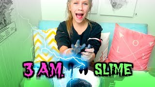 3AM SLIME! Is it FAKE or REAL?! Testing the myth SO SCARY!