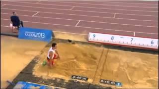 Luis Alberto Rivera New record Long Jump - Kazan - Russia- 2013