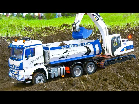 Highly Detailed Rc Trucks, Rc Machines, Rc Excavator, Rc Roller, Rc Wheel Loader Volvo in Action!!