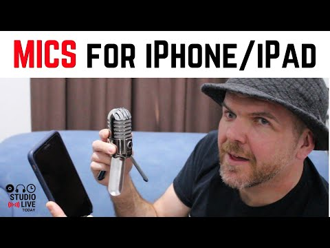 How to connect microphones to an iPhone or iPad