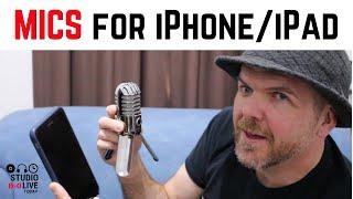 Hoe sluit de microfoons aan op een iPhone of iPad