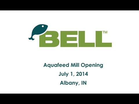 Steve Hart (Soy Aquaculture Alliance) at Bell Aquaculture Feedmill Opening