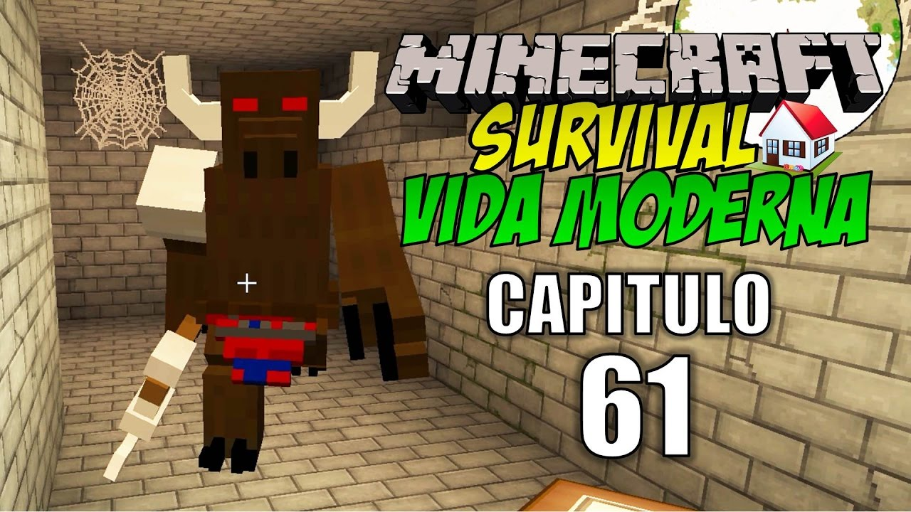 Minecraft survival vida moderna capitulo 61 el laberinto for Casa moderna rey zerch
