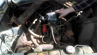 1964 Ford Comet Caliente first run with rebuilt carb