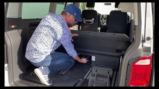 VW Bus / Mulтivan T6 - Sitzbank ausbauen / Removal of the three seats bench - easy!