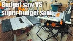 Budget table saw vs super budget table saw - Evolution vs Einhell