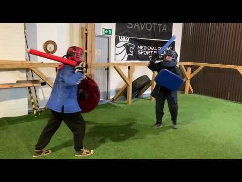 Soft 1 on 1 sparring at Helsinki Medieval Combat