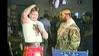 Roddy Piper confronts Mr. T (02-16-1985)