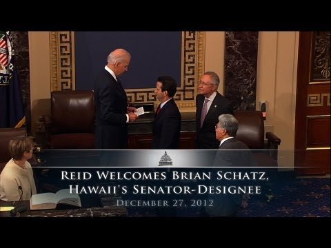 Reid Welcomes Brian Schatz, Hawaii