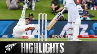 NZ Set 132 To Win | HIGHLIGHTS | BLACKCAPS v India | 2nd Test - Day 3, 2020