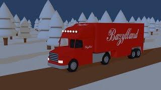 Christmas Truck gives away presents   Toy Factory   Świąteczny Tir Rozwozi prezenty   Bajeczka