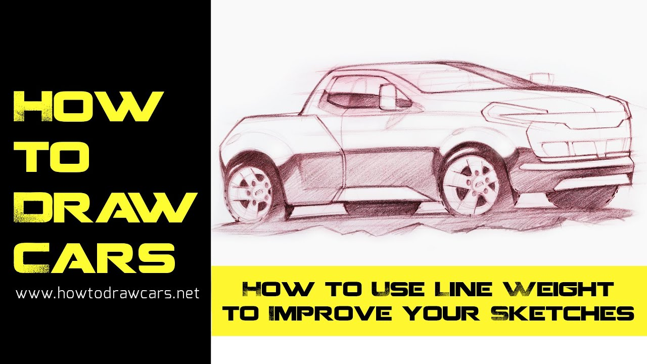 Car Design Drawings - Secrets of Using Line Weight - YouTube