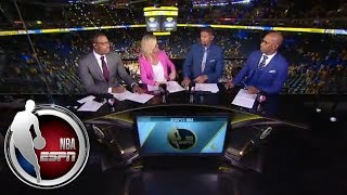 Chauncey Billups and Paul Pierce in awe over Steph Curry's Game 2 performance | NBA Countdown | ESPN