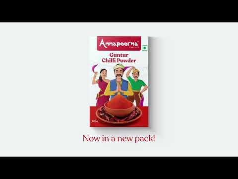 Annapoorna Guntur Chilli Powder - Unveiling the new packaging