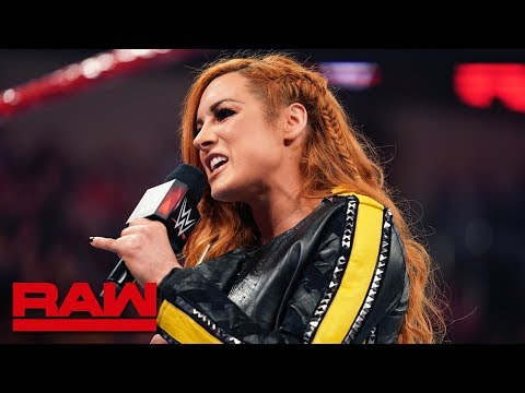Becky Lynch and Lacey Evans have a war of words: Raw, April 22, 2019