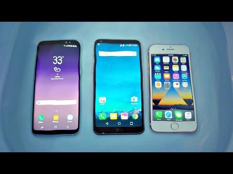 Samsung Galaxy S8 vs iPhone 7 vs LG G6 Water Test! WaterProof?