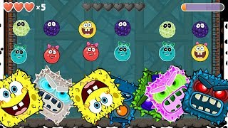 RED BALL 4: GHOST MODE BILLBERRY & SPONGE BOB BALL 'FUSION BATTLE' with 4 COLORFUL BOSSES VOLUME 5