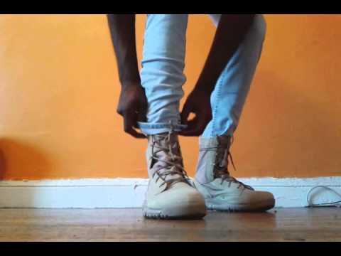 outlet store 8f8b2 8c7de nike sfb boot british khaki on feet - YouTube