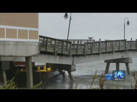 Buckroe Fishing Pier Collapses Following Loose Barge Strike
