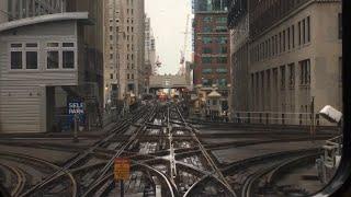 シカゴ交通局 (CTA)の高架鉄道、シカゴ・Lのループ、ワシントン/ウェル...
