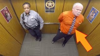 This Cop Thought They Were Alone In Elevator Doesn't Know Hidden Camera Is Recording His Every Move